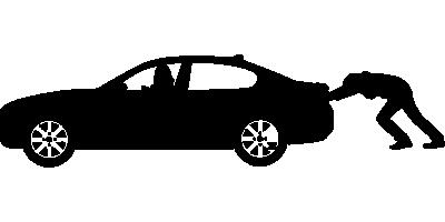 auto duwen bij pech onderweg